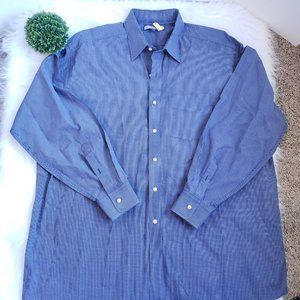Tommy Hilfiger Long Sleeve Button Up Blue Plaid